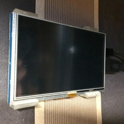 "Download free STL 5"" Raspberry pi LCD Wall-mount, indigo4"
