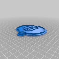 Download free 3D printing models Santa Cookie Cutter, indigo4