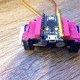 Télécharger modèle 3D gratuit Combo double servo avec support Arduino Pro Micro, indigo4
