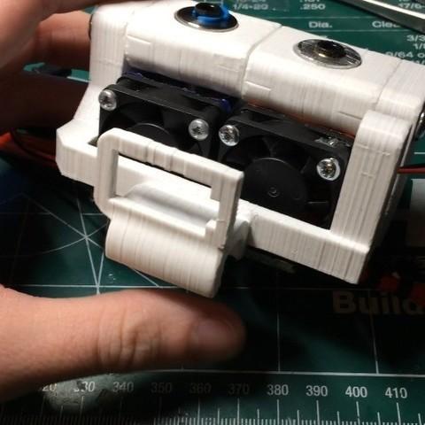 Free 3D printer designs DaVinci Pro Dual E3D V6 Bowden Extruder, indigo4