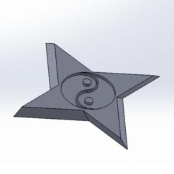 Descargar Modelos 3D para imprimir gratis Shuriken Yin Yang Yang Yin Yang, laeltroullier