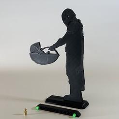 IMG_7241.JPG Télécharger fichier STL gratuit Bébé Yoda le Mandalorien - Silhouette 200mm - star wars • Design à imprimer en 3D, SIGNMAK