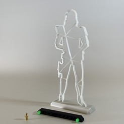 IMG_7245.JPG Télécharger fichier STL gratuit Silhouette d'un soldat de la guerre des étoiles de 200 mm • Plan pour impression 3D, SIGNMAK