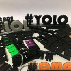 Download 3D printing designs Internet Slang Hashtags, SIGNMAK