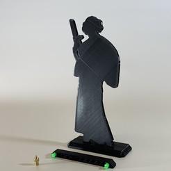 IMG_7244.JPG Télécharger fichier STL gratuit Silhouette de la Princesse Leia 200 mm de la guerre des étoiles • Design à imprimer en 3D, SIGNMAK