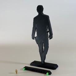 IMG_7242.JPG Télécharger fichier STL gratuit La guerre des étoiles Han Solo 200mm Silhouette • Design pour imprimante 3D, SIGNMAK