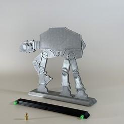 IMG_7246.JPG Télécharger fichier STL Silhouette de la guerre des étoiles AT-AT 200mm • Modèle pour imprimante 3D, SIGNMAK