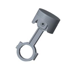 3D print model Piston and Connecting Rod , msalman323232