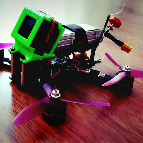 Download 3D printer designs FPV GoPro session Cover 30 deg, X-PROJECT