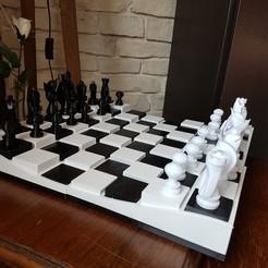 echiquier.jpg Download STL file chess game • 3D printer object, patjerak