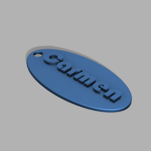 Simple_Keychain_Customizable_v1.png Download free STL file Simple Keychain Customizable • 3D print model, PilotDog