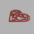 Download free STL files Heart with hearts, PilotDog