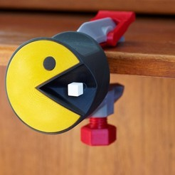 Download free 3D printer model Pac-Man Headphone Mount or Desk Ornament, zx82