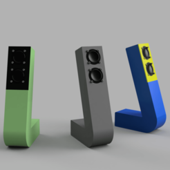 Render_of_Audio_Stix.png Download free STL file Audio Stix TL Loudspeaker (Hexibase Remix) • 3D print model, zx82