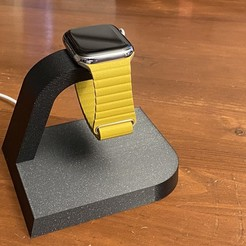 IMG_1531.jpeg Download free STL file Elegant Apple Watch Charging Stand (Customizable) • 3D printer model, zx82
