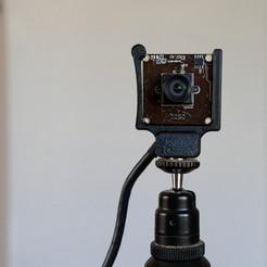 db1d00830b091229822b071738d97c5e_display_large.jpg Download free STL file 38mm Webcam Tripod Mount • Design to 3D print, zx82