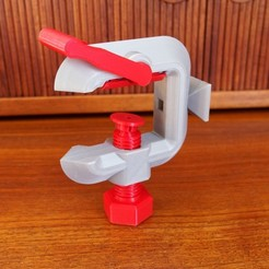Free STL Quick Adjust G-Clamp With Universal Mount, zx82