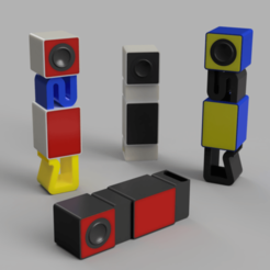 Download free 3D printer files Tower of Bass Subwoofer (Hexibase Remix), zx82
