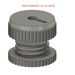 """2020-12-12_2.png Télécharger fichier STL gratuit Porte-piles 2032 simple avec LED (alias """"Tea light"""") • Plan imprimable en 3D, intommy"""