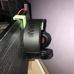 hook02.jpg Télécharger fichier STL gratuit Prise pour casque d'écoute (sur le moniteur) • Modèle pour imprimante 3D, intommy