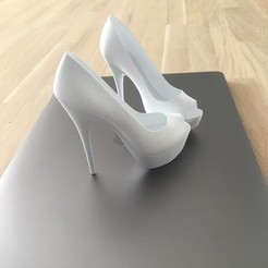 3D printer files Open Toe High Heels Platform 3D Print, JOlivier