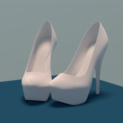 3D printing model High Heel Platform, JOlivier