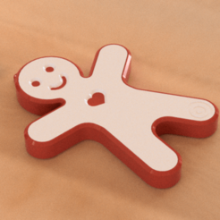 Download free STL file Gingerbread Man Speaker Christmas Gift for Family and Friends • Model to 3D print, vrodionov