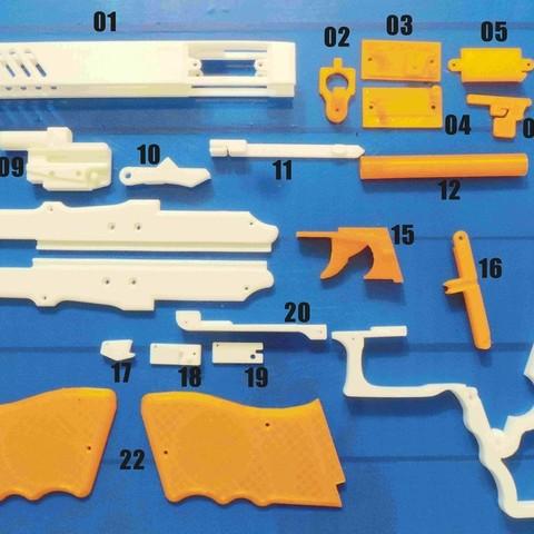 f96b7ffebf6fac2c21dcfc842d62adb5_display_large.jpg Download free STL file Rubber band gun with Blowback action • 3D printing template, esignsunny