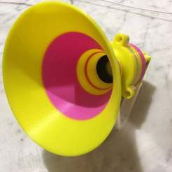 IMG_5476.jpg Download free STL file mp3 player / speaker Horn 52mm - Remix • 3D printable template, Lammesky