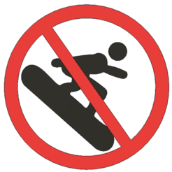 Download 3D printer files No Snowboarding - Sign, Lammesky