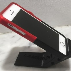 Download STL files phone holder - with a cover on your phone, Lammesky