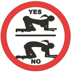Correct doggy style.png Download STL file Correct Doggy style - funny sign • 3D printing design, Lammesky