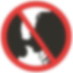 Télécharger objet 3D Pas de pipe autorisée - drôle de signe, Lammesky