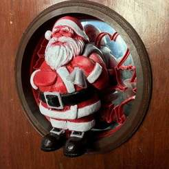 IMG_5255.jpg Download free STL file Santa Claus door hole decoration • Object to 3D print, Lammesky