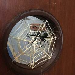 IMG_4899.jpg Download free STL file Front door - Halloween - Spider and spiderweb • 3D print design, Lammesky