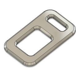 seat belt buckle replacer.jpg Download free STL file Seat belt Buckle replacer - keychain • 3D printable template, Lammesky