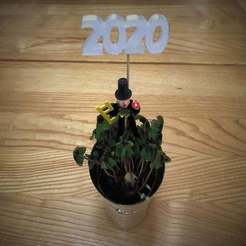 Download free 3D printing templates 2020 New Year Decoration (also 2021), Bengineer3D