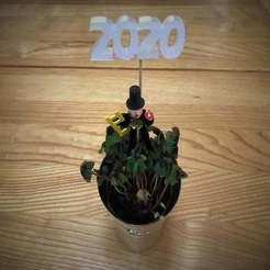 IMG_0899.JPG Télécharger fichier STL gratuit Décoration du Nouvel An 2020 (également 2021) • Modèle à imprimer en 3D, Bengineer3D