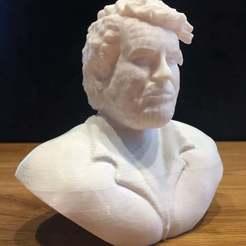 Download free 3D model Bud Spencer Bust  - No Support Cut, Bengineer3D