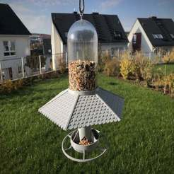 Download free 3D printer designs SodaStream Bird Feeder with Roof, Bengineer3D