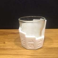 IMG_1898.JPG Télécharger fichier STL gratuit Manchon de mesure en verre à shot • Design imprimable en 3D, Bengineer3D