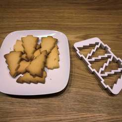 Download free 3D printer model Christmas Tree Cookie Cutter (five at once), Bengineer3D