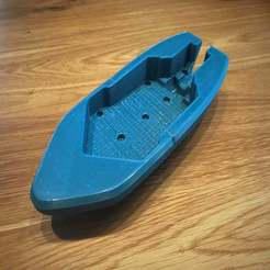 Download free 3D printer designs Wind-up Bathtub Boat V5 MOD - Hull in two peaces, Bengineer3D