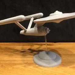 IMG_1976.JPG Télécharger fichier STL gratuit Star Trek Enterprise Original - Pas de coupe de soutien • Objet pour impression 3D, Bengineer3D