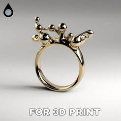 3D print model Viscosity Ring , Motionrain