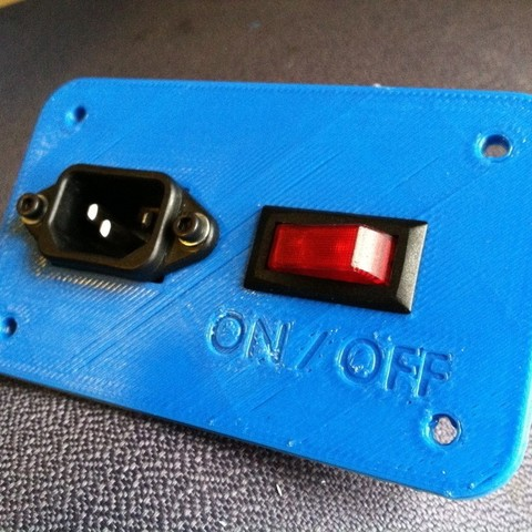 Download free 3D printing templates MendelMax Power Panel for a Smaller Switch, Revalia6D