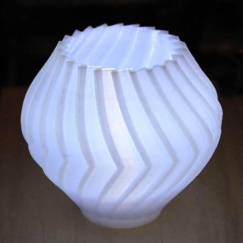 BuzzVase-TOM-lit_display_large.jpg Download free STL file Buzzsaw Vases • Model to 3D print, Revalia6D