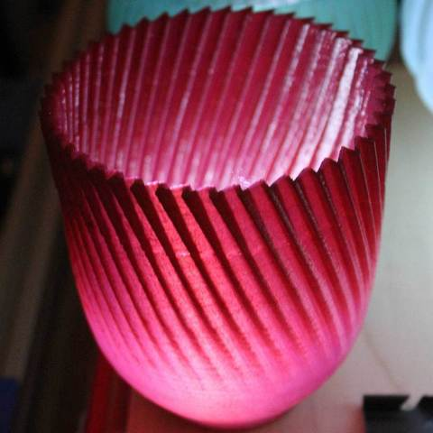 Buzzcup-Red-lit_display_large.jpg Download free STL file Buzzsaw Vases • Model to 3D print, Revalia6D