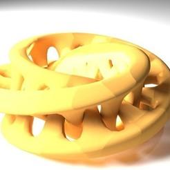 Descargar modelos 3D gratis Escultura de Moebius en 3D entrelazada, Numbmond