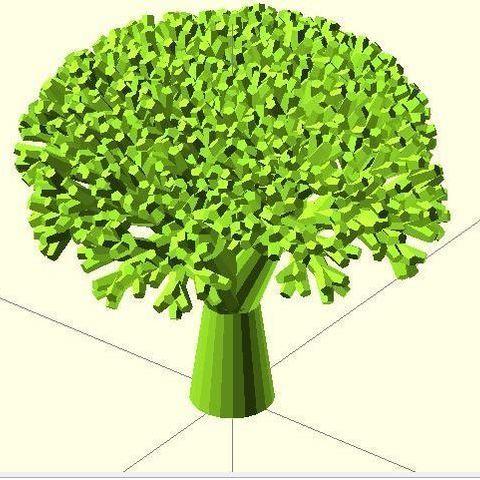 Télécharger plan imprimante 3D gatuit Brocoli récursif, Numbmond